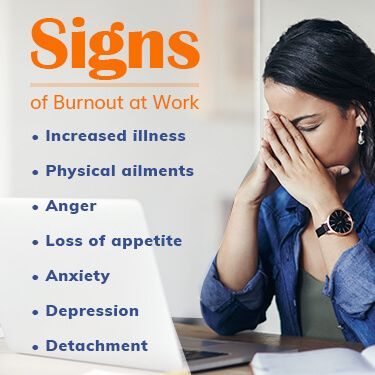 20 Signs of Burnout at Work Increased Illness